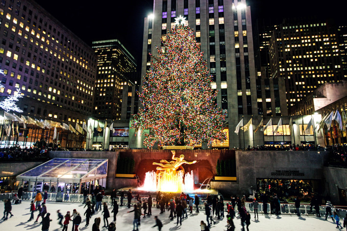 Christmas Tree at Rockefeller Center in New York City