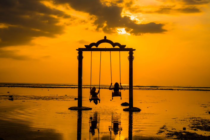 Ombak Sunset Gili T Indonesien