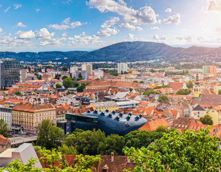 The Austrian city Graz