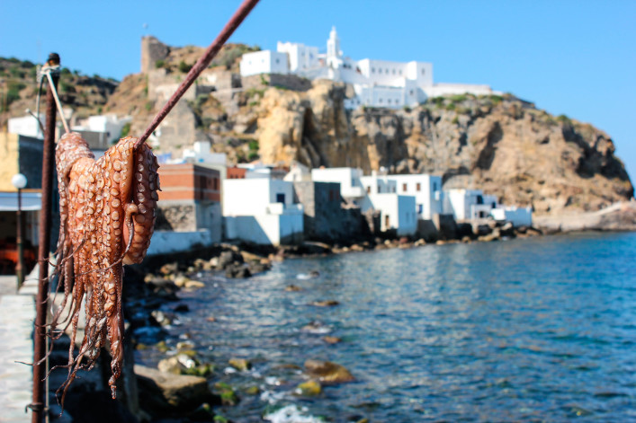 Octopus Drying on the Island of Nisyros