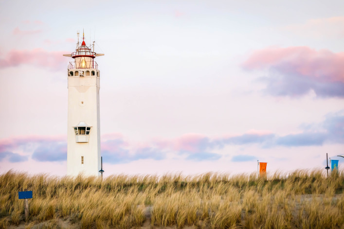 Lighthouse on beach at Noordwijk aan Zee, South Holland, Netherlands shutterstock_140282833-2