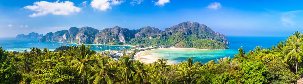 Lush tropical island: Phi-Phi Don, Thailand.