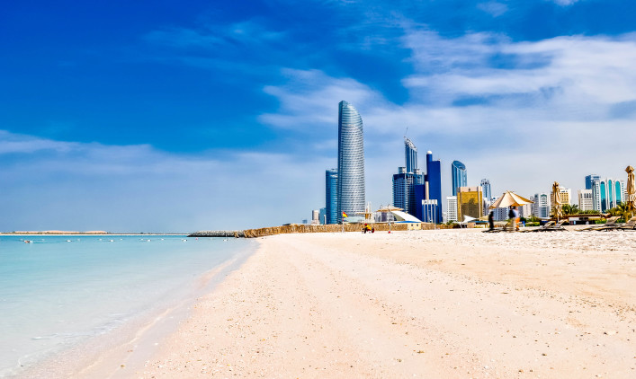 beach in Abu Dhabi, UAE