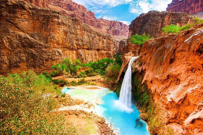 außergewöhnliche Badeorte, Havasu Fall, Arizona, USA