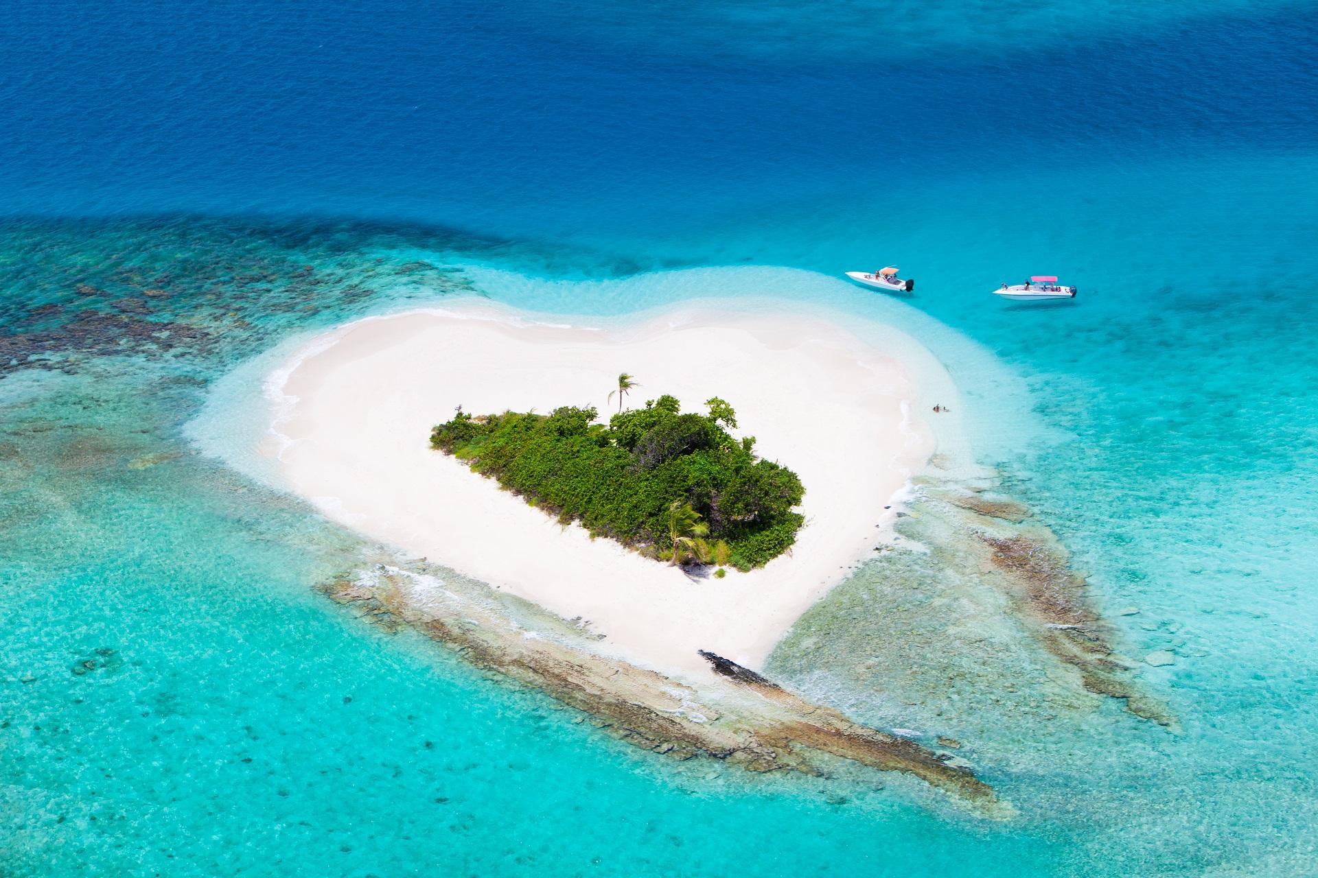 Insel Herzform