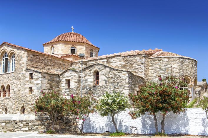 The Ekatontapiliani church in Parikia old town, Paros