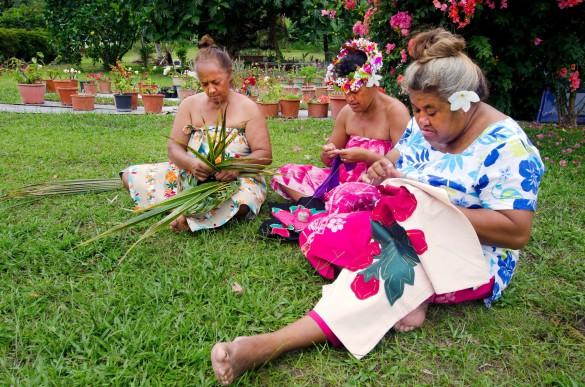 Einwohner auf Tahiti