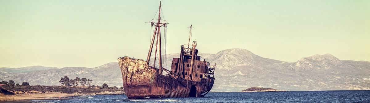 Shipwreck near Githeio-Greeceshutterstock_134752148