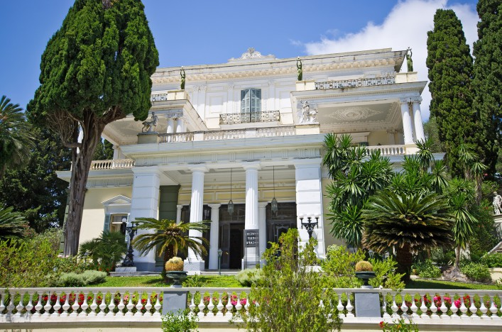 Achillion palace on Corfu island, Greece_shutterstock_268928156