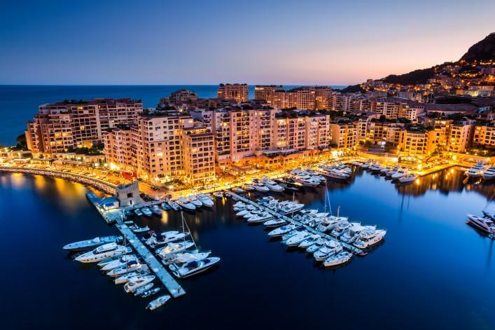 Monaco harbour by night_shutterstock_211547446