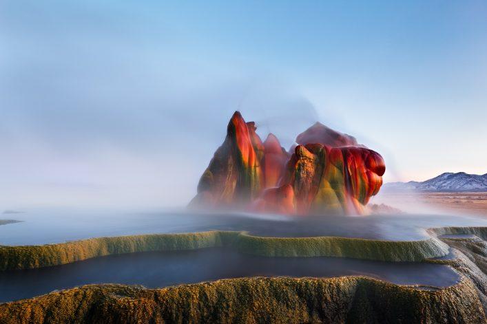 Unglaubliche Orte Fly Geyser in Nevada