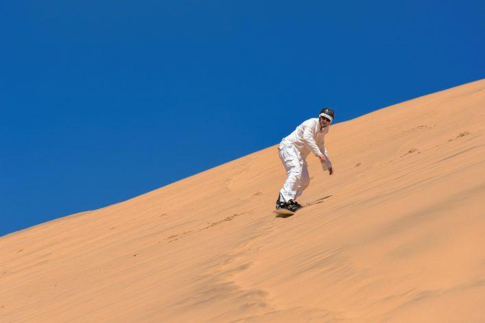 Außergewöhnliche Skigebiete, Skifahren in Namibia, Sandboarding