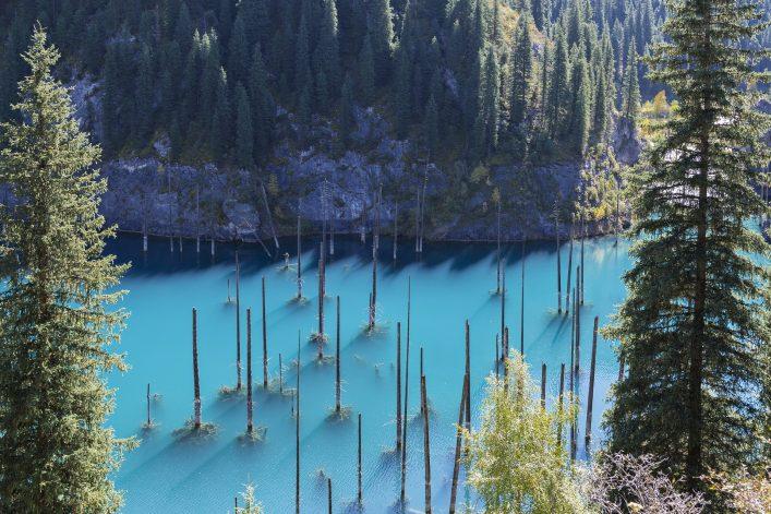Unglaubliche Orte Lake Kaindy in Kasachstan