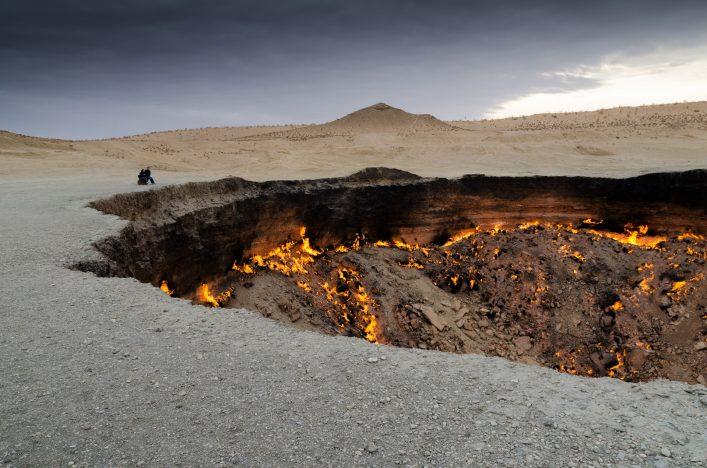 Unglaubliche Orte Karakum Turkmenistan