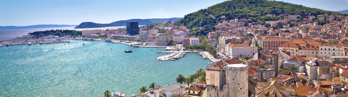 Split waterfront and Marjan hill view