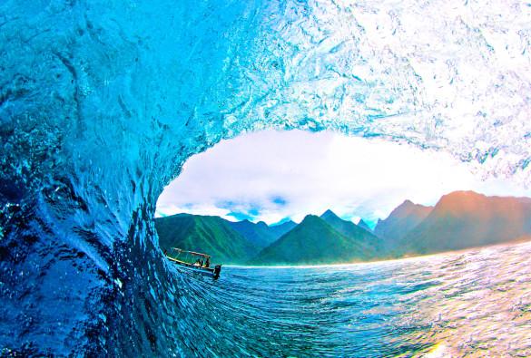Surfspot Teahupoo auf Tahiti
