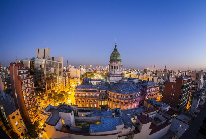 Congreso and Buenos Aires Skyline Argentina iStock_000023473092_Large