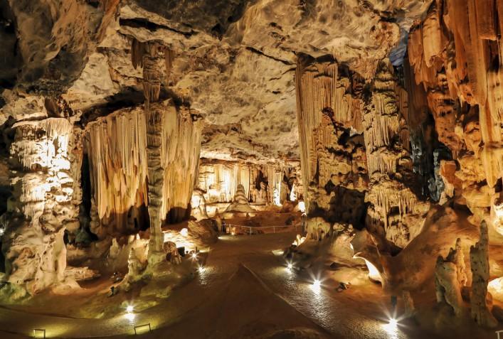Limestone Cavern Formations