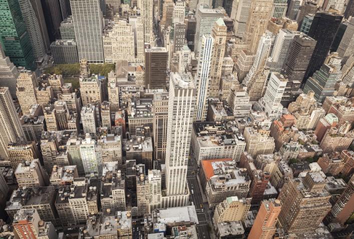 Luftaufnahme der Innenstadt von Manhattan, New York City iStock_000059382172_Large_1200