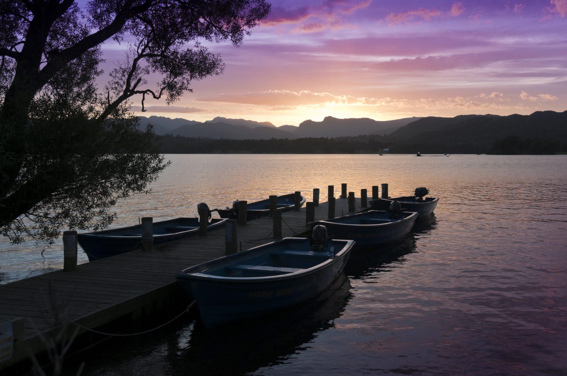 Malerischer Lake District Nationalpark in England