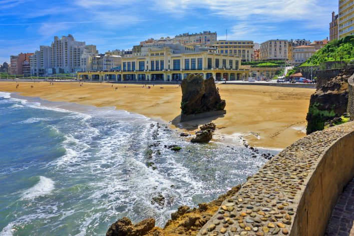 France: Grande Plage of Biarritz in the Bay of Biscay