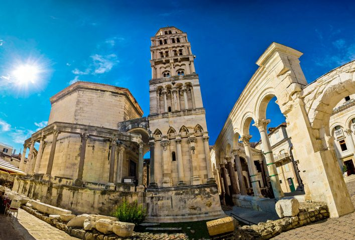 Diocletian palace UNESCO world heritage site in Split, Dalmatia, Croatia shutterstock_218112727-2
