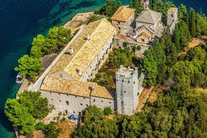 Aerial helicopter shoot of National park on island Mljet, Dubrovnik shutterstock_149631149-2