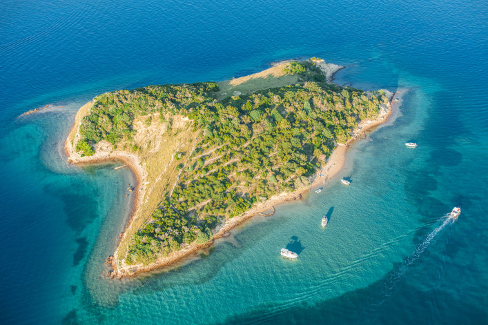 aerial view of Croatia coast line Rab island shutterstock_237879955-2