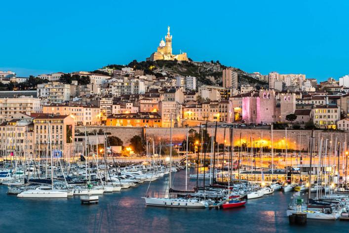 Basilique Notre-Dame de la Garde, Marseille Harbour, France iStock_000091451759_Large-2