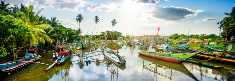 Boats in tropical bay