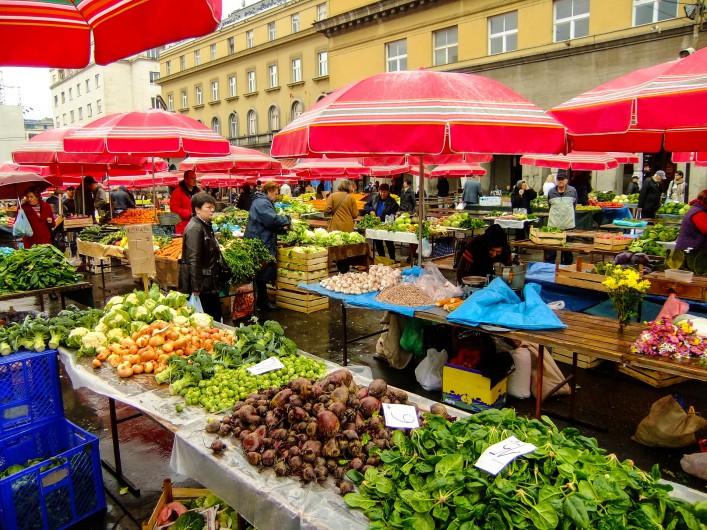 Zagreb Kroatien Markt