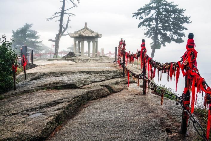 Huashan Pfad Tempel Gipfel