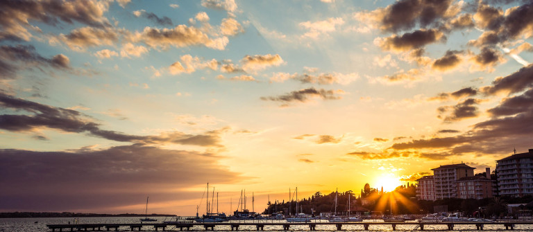 Golden sunset at Adriatic town Portoroz Slowenien iStock_000020049800_Large-2