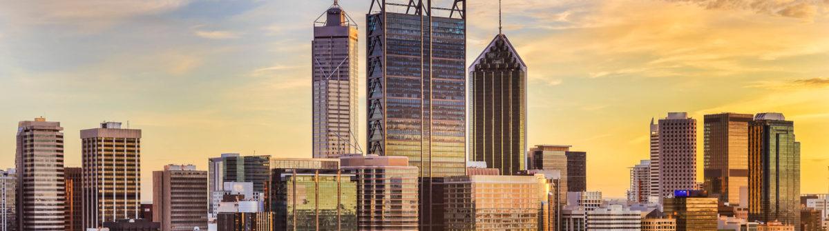 Perth CBD Gold SUn close