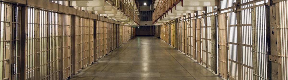 Inside Alcatraz Prison – Row of Bars and Cells