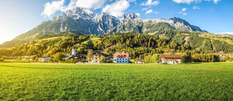 Mountain village in Austria, Leogang shutterstock_159276230-2