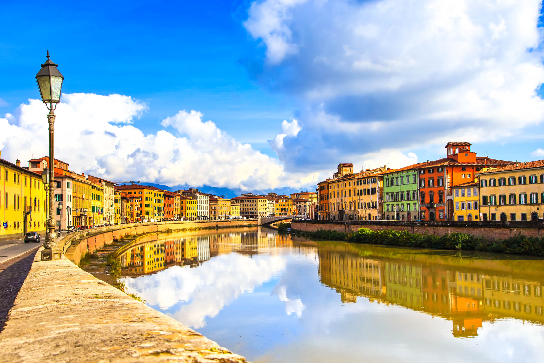 Pisa Tipps - Arno Fluss, Pisa, Toskana, Italien