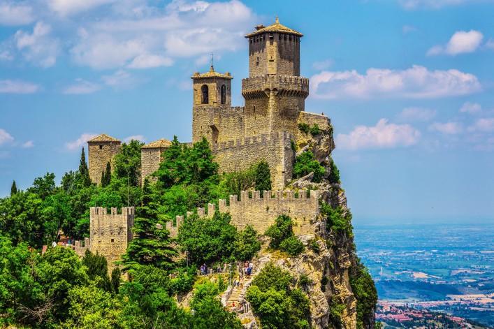 San Marino Italien Burg