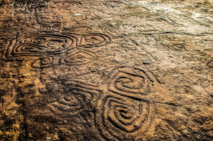 Rock Paintings At The Dominican Republic