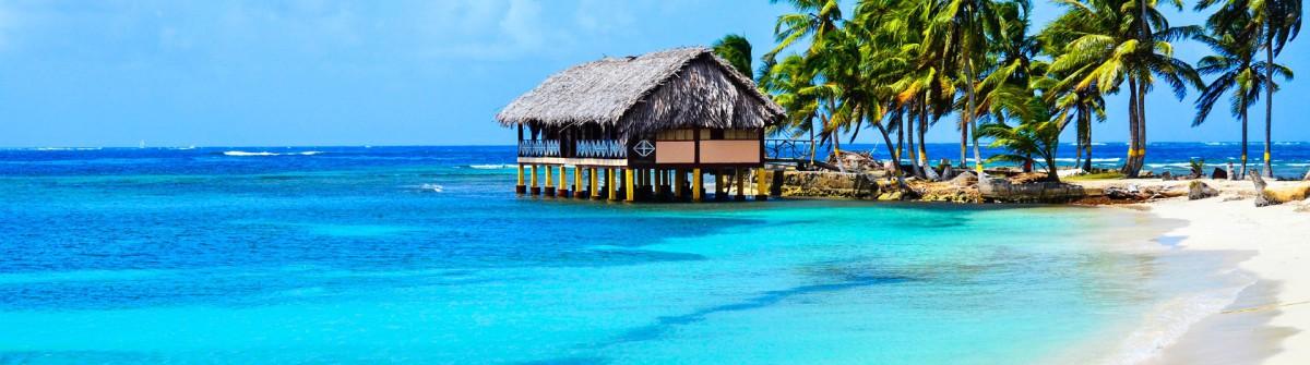 Panama Meer Palmen