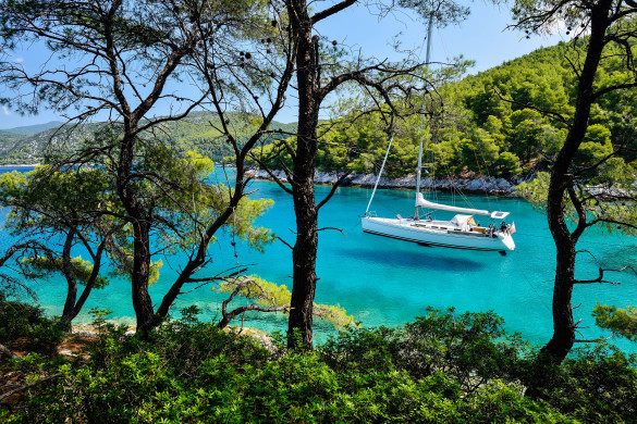 Skopelos Griechenland Strand Bucht