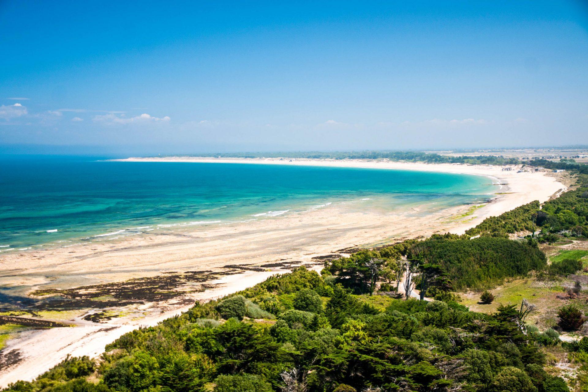 Die Sicht über den Strand und das Meer in Île de Ré