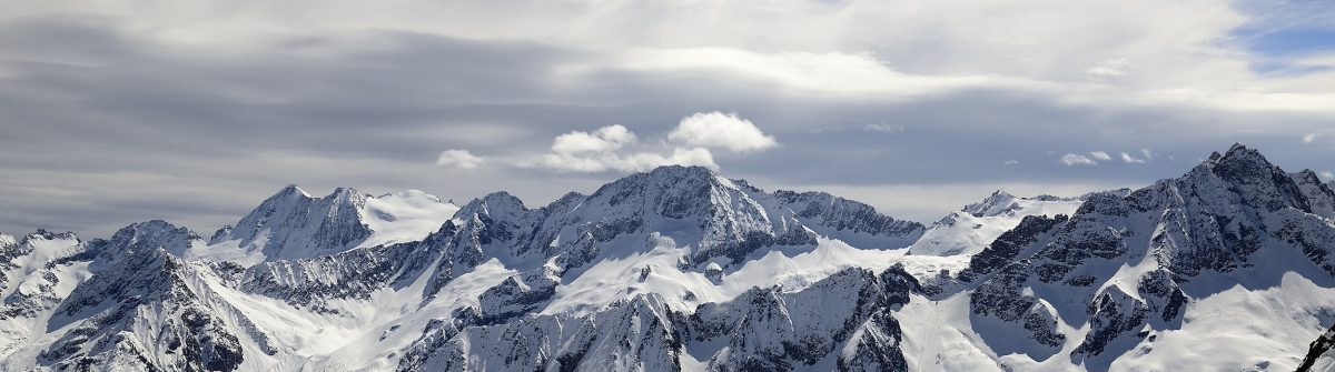 Ski resort Passo Tonale and Presanella mountain group from the north, Natural Park Adamello, Alps, Italy_shutterstock_267902576