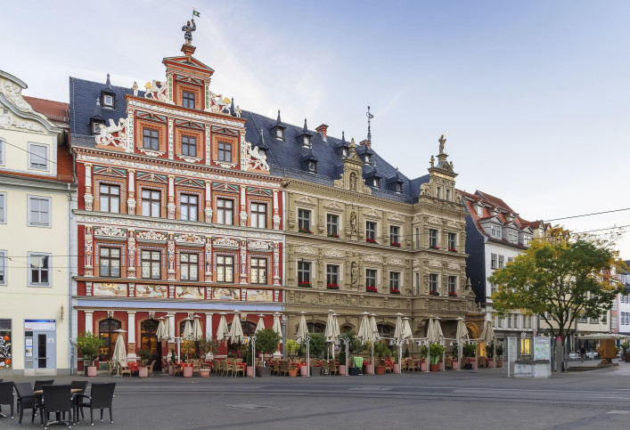 Fischmarkt square, Erfurt, Germany
