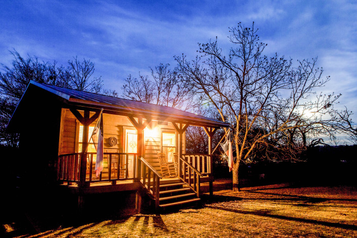 A rural cabin near Bandera, Texas, USA shutterstock_140165671-2