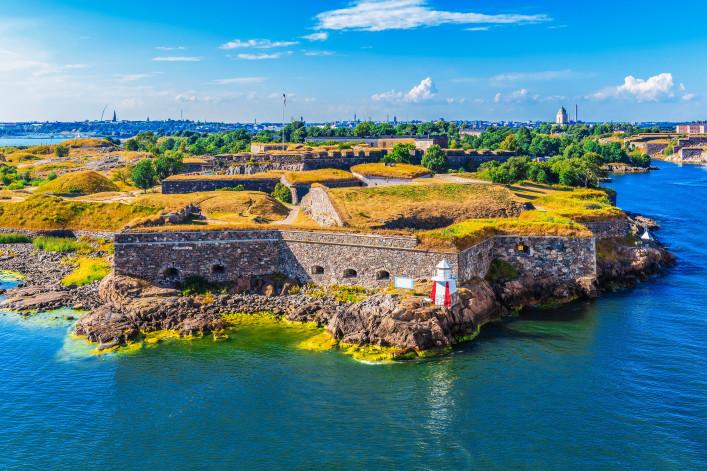 aerial view of Suomenlinna (Sveaborg) sea fortress in Helsinki, Finland shutterstock_166214942-2