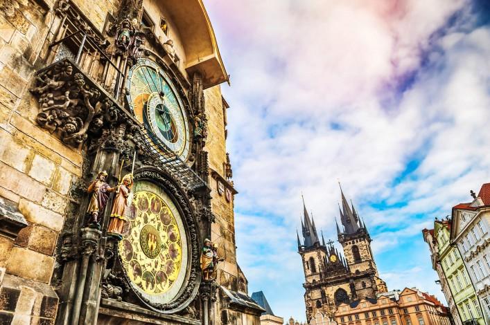 Sehenswürdigkeiten in Prag Altstädter Rathaus Astronomische Uhr