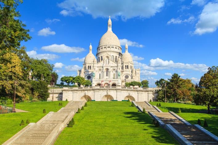 Paris Basilika Sacre Coeur de Montmartre, 24 stunden