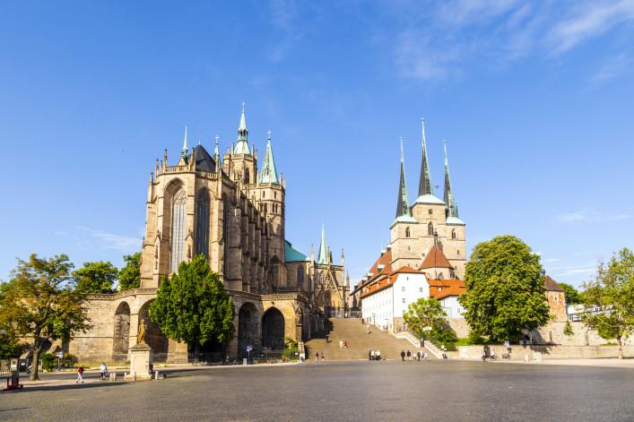 Dom hill of Erfurt Germany