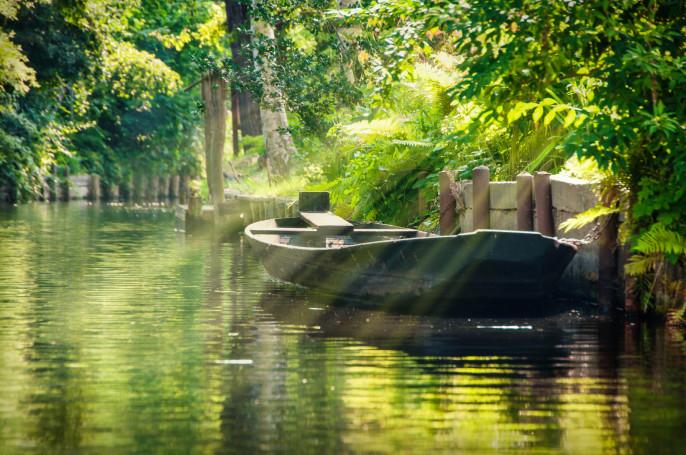 Landschaft mit grünen Wald im Spreewald Deutschland iStock_000022126796_Large-2